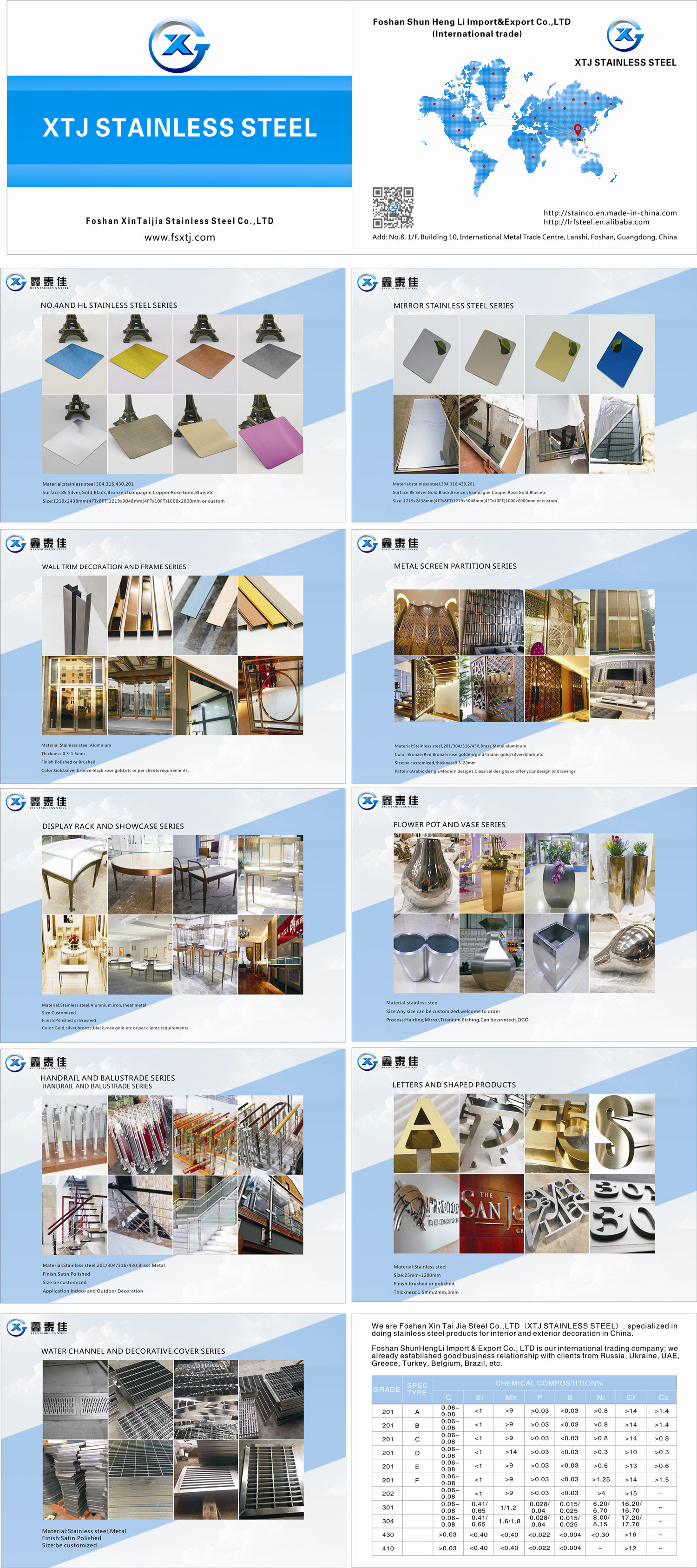 china latest news about XTJ company new catalogue ----stainless steel expert
