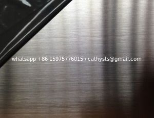 Hairline (HL) stainless steel sheet grade 201/304 size 4x8
