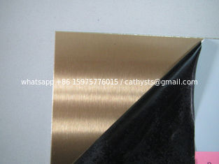 201 304 rose gold brushed finished stainless steel sheet