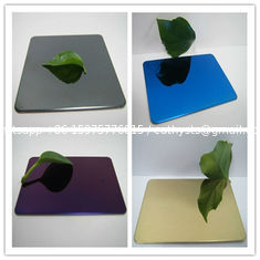 China 304 mirror color stainless steel sheet with colors ROSE, GOLD, BLACK, GREEN,BRONZE supplier