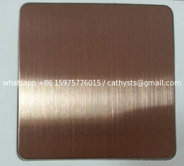 304 430 No4 Bronze Colored Stainless Steel Sheet 1219