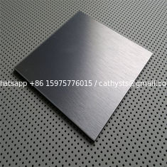 China supplier of Stainless steel sheet grade AISI 430 304 surface Satin or NO.4 finish with laser cut pvc film