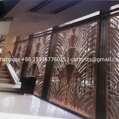 CNC laser cutting panel screen metal decoration material for luxury architectural and interior projects