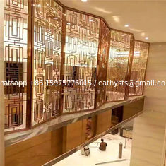 luxury stainless steel Screens & Room Dividers Type for Commercial Home Decor