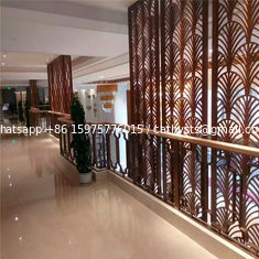 Top quality laser cutting  room divider screen antique bronze color brushed finish metal panel supplier