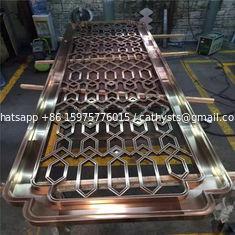 rose gold color metal stainless steel 3D panels for wall cladding china supplier