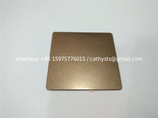 China Hot sale bronze color sand blasting stainless steel sheet panel 304 316 china supplier supplier