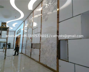 China supplier stainless steel decorative strips mirror finish rose gold color for wall tile trimmings
