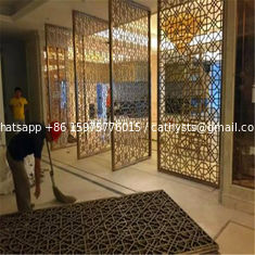 China Decorative metal work for Hotel Screen Partition Restaurant Screen Partition Wall panel supplier