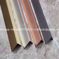 China supplier stainless steel angle tile trim(stainless steel, grade 304, hairline finish)