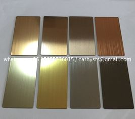 China Supply Stainless Steel Architectural Finish Sheets Like Mirror No.8/Brush No.4 / Ti Gold And Etched supplier