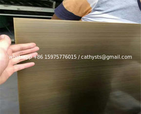 satin brush titanium bronze coated sheets color stainless steel 304 316
