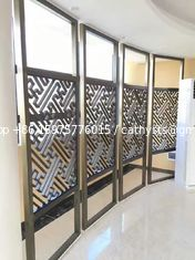 Interior decorative laser cutting stainless steel screen partition