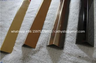 stainless steel angle transition strip SS316 angle bronze mirror finish