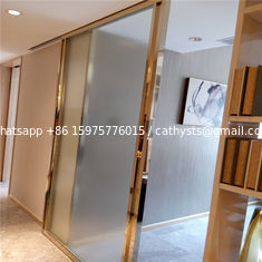 gold metal trim for doors windows mirror color stainless steel material