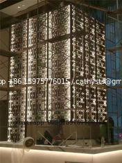 restaurant wall divider 3D decorative panel stainless steel screen