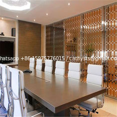 Restaurant room divider metal screen  decorative partitions with color finish