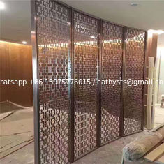China Restaurant room divider metal screen  decorative partitions with color finish supplier