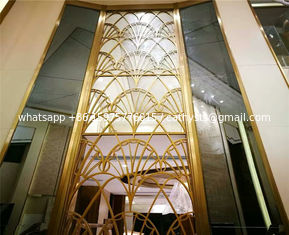 exterior wall partition large metal screen facade panel stainless steel screen