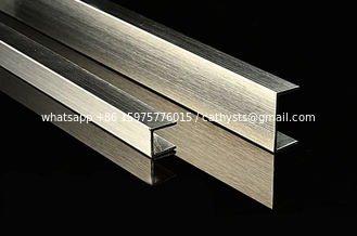 Polished Finishes Bronze Stainless Steel U Channel U Shape Profile Trim 201 304 316