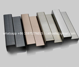 China baseboard molding stainless steel moulding shaped trim profiles supplier
