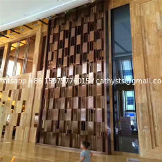 China Modern Huge metal screen for decorative panel in hotel or restaurant metal work project supplier