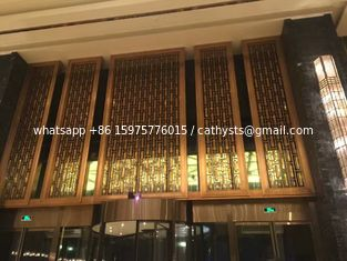 China OEM curtain wall panel metal screen stainless steel finish brass color supplier