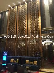 OEM curtain wall panel metal screen stainless steel finish brass color