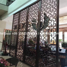 China Restaurant wall divider metal screen stainless steel room divider screen supplier