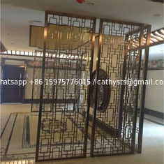 Designed Folding screen room divider stainless steel decorative metal screen