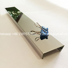 China SS 304 Metal brush mirror U type stainless steel tile trim for decoration supplier
