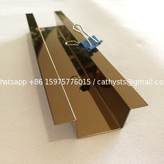 SS 304 Metal brush mirror U type stainless steel tile trim for decoration
