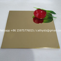 gold decorative stainless steel sheet 304 size 4x8 mirror finish