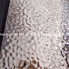 Hot hale 201 304 316 grade hammered stainless steel sheet embossed SS plate