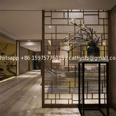 Decorative Metal Screen interior partition wall panel designs customized metal furniture
