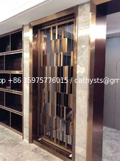 Metal screen golden color shinny reflective screen partition panel for wall dividers or door parititons