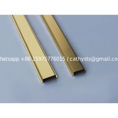 decorative steel C channel price mirror gold finish stainless steel C shaped profile