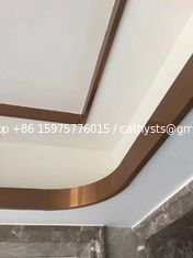 rose gold mirror stainless steel C channel for ceiling metal profile and wall tile trim