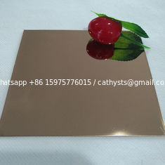 high quality rose gold mirror SS304 sheet decorative 4x8 stainless steel sheet 0.6-1.5mm thickness