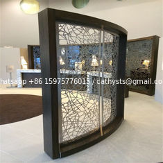 metal curved screen stainless steel room divider for partition wall panel