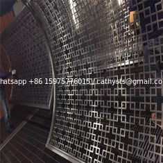 stainless steel curved panel decorative curved screen for room partition