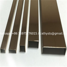 China hairline or mirror finish stainless steel profile u shaped channel for glass railing supplier