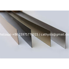 China customized sizes gold mirror stainless steel strip or flat bar 201 304 316 grade quality supplier