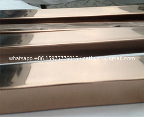 Titanium Colored Stainless Steel Pipe Tube Hairline Finish 201 304 316 For Handrail Balustrade Ceiling Decoration