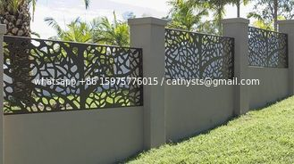 Powder coating steel cut partition or aluminum screen panel for metal screen fence or facade
