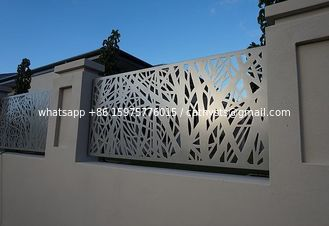 China Architectural Metal Aluminum Decorative Laser Cut Fencing Panels or steel panels supplier