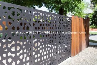 Villa Garden Decoration Powder Coated Laser Cut Screen Aluminum Garden Fence Panels