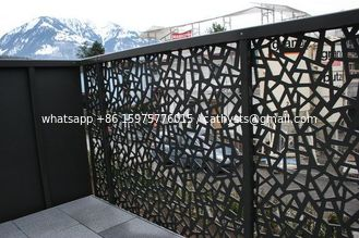 Powder Coated Decorative Outdoor metal screen Villa Garden Aluminum panel perforated Fence