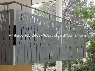 Wholesale price Villa Garden Decorative Laser Cut Steel Screen Fence Panels