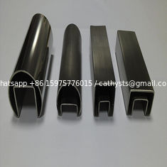 316 Stainless Steel Groove Tube or inox channel tube  for  Balustrade